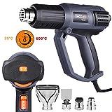Pistola de Calor, TACKLIFE Pistola de Aire Caliente 2000W, 3 Temperatura Ajustable 50-600℃ con 9...