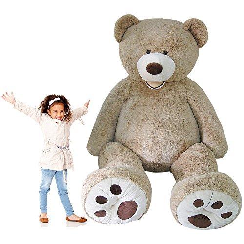 MorisMos Groß Teddybär Weiches Plüschspielzeug Braun 340cm/134
