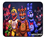 Five-Nights-at-Freddy's Mouse Pad - 11.81 x 9.84 x 0.12Inch Fn_af World Poster Mouse Mat Anime Mouse Pads for Kids/Boys/Office/Gaming/Home