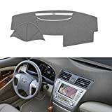 SAILEAD Car Dashboard Carpet Dash Board Cover Mat Compatible with Toyota Camry 2007,2008,2009,2010,2011 (Gray)
