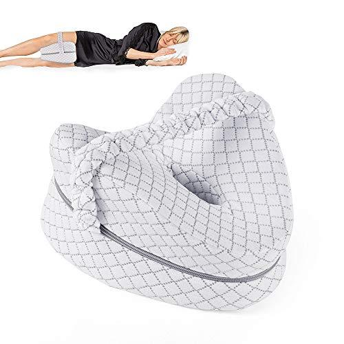 ERWEY Leg Pillow Ergonomisches Seitenschläferkissen-Beinkissen, Schlaufe Memory-Schaum stützt Beine, Knie und Rücken