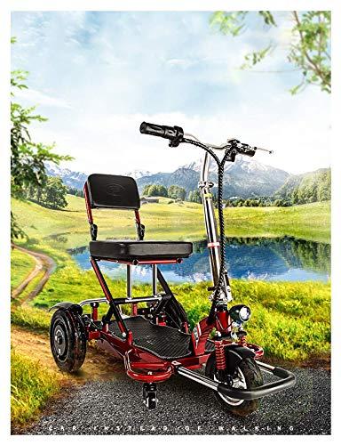 Life Equipment Patinete de movilidad eléctrico de 3 ruedas Dispositivo de silla de ruedas móvil para adultos y personas mayores Patinete eléctrico de viaje compacto Diseño plegable instantáneo de 3
