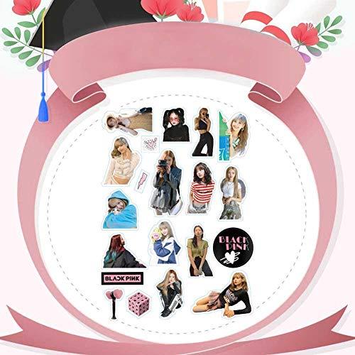CAR-TOBBY Kpop Zwartroze Nieuw Album Adhensive Foto Sticker voor Telefoon Bagage Laptop DIY