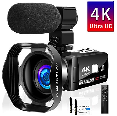 Camcorder Video Camera 4K 48MP 18X Video...