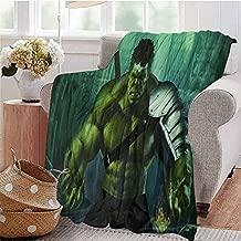 HouseDecor Lightweight Blanket Hulk Arts Zc Sofa Adult Travel Fleece Blanket Winter 50X30 Inch