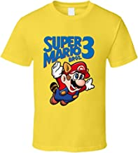 ZJKDKJYXG Camiseta Super Mario Bros. 3 Retro NES Box Art Videojuego