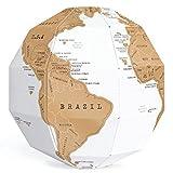 Exerz EX-SCGL20 Globo para rascar (Diámetro: 20 cm)/ Scratchable Globe, 3D Puzzle - Combinación única de Bricolaje y geografía para viajeros, exploradores, Estudiantes (Mapa en inglés)