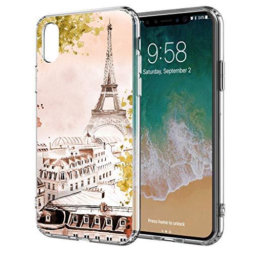 blitzversand Handyhülle Watercolour Paris France kompatibel für Samsung Galaxy S5 Mini Frühling Eifelturm Schutz Hülle Case Bumper transparent M1