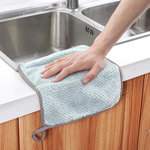 Koraal fluweel, olievrij, schoteldoek, keuken, schoonmaak, handdoek, pluisvrij, absorberend, ophangbaar, vod, schoonmaakdoek, handdoek