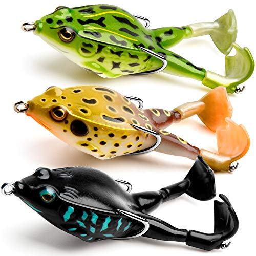 Topwater Frog Lure, Bass/Trout Fishing Lures...