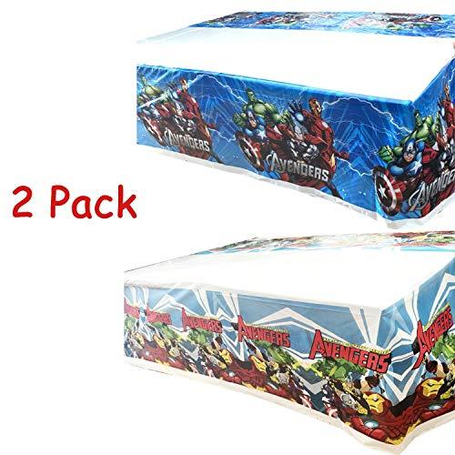 MIANRUII Paquete de 2 Cubiertas de Mesa de superhéroes de plástico, AV Party Mantel de plástico 42 X 70 Decoraciones para Fiestas y Suministros