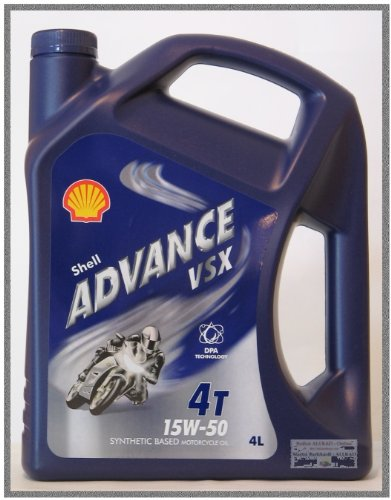 Shell Advance 4T AX 7 15W-50 (Nachfolger des VSX 4T 15W-50) / 4-Liter-Kanister