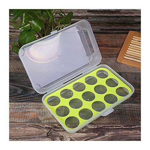 Huevera 15 cuadrículas Huevo Caja de almacenamiento Huevos Huevos Portátil Alimento Almacenaje Contenedor Refrigerador Huevo Bandeja Contenedor Contenedor con tapa (Color : Yellow)