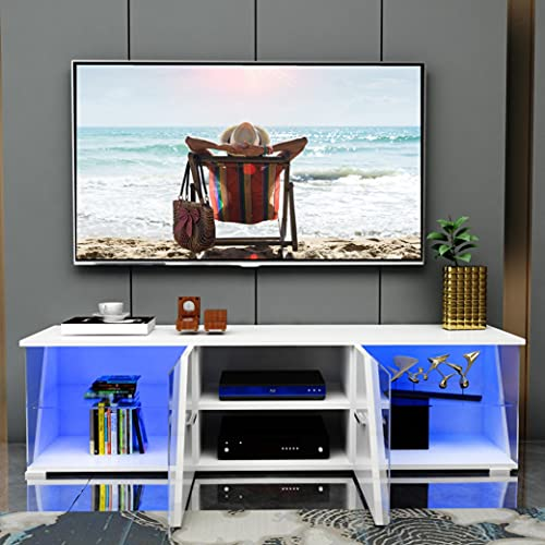 Modern LED TV Stand for 60/65/70 Inch TVs with Lighting LED RGB...