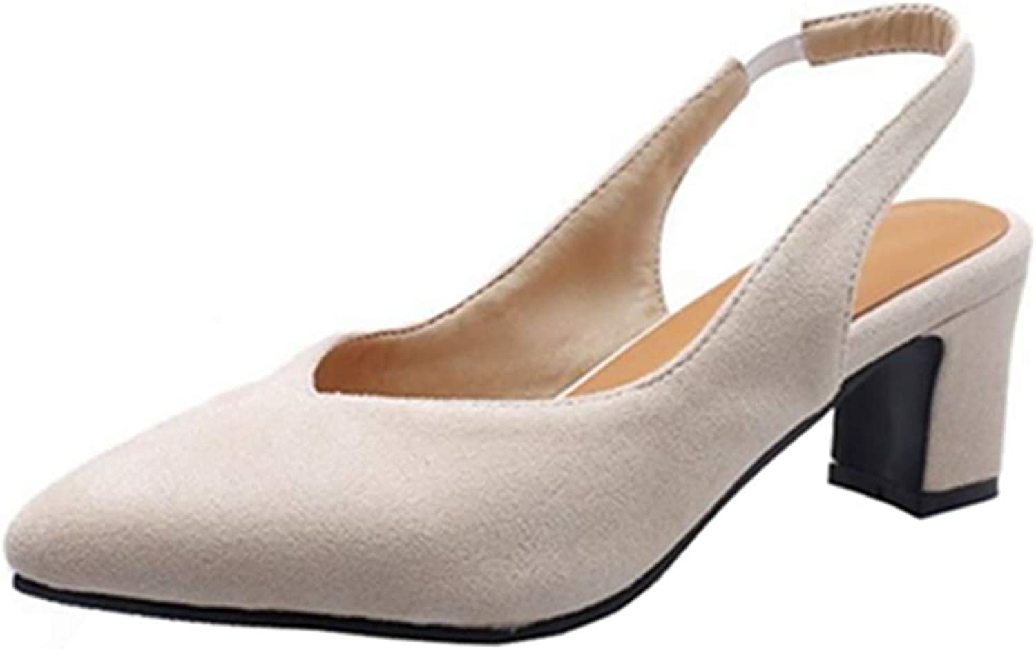Cocey Women Casual Pumps with Open Back