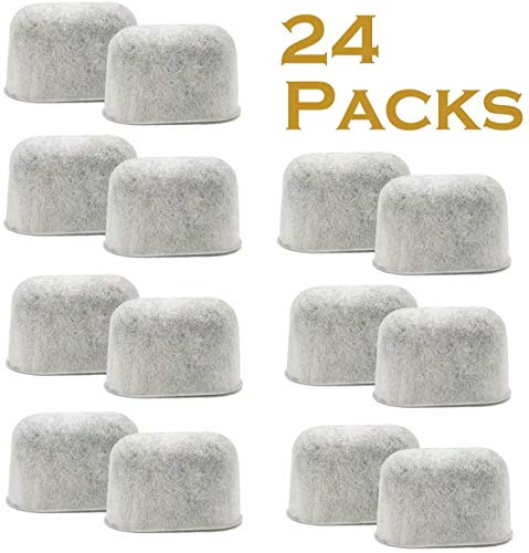 24 Pack Charcoal Filters Compatible with Keurig Keurig 2.0 and 1.0 Classic K-Cup Pod Coffee Makers Water Filter
