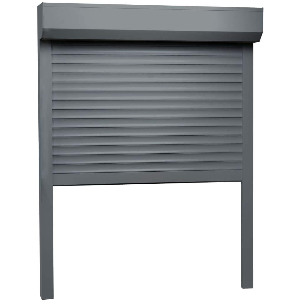 vidaXL - Persiana enrollable de aluminio, 100 x 130 cm, color antracita: Amazon.es: Bricolaje y herramientas