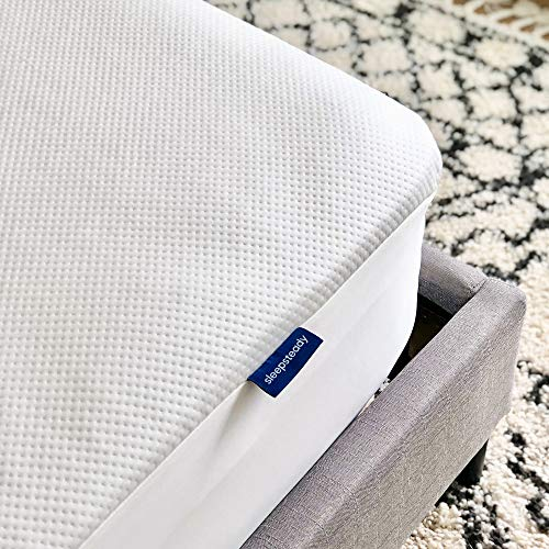 Sleepsteady 100% Waterproof Mattress Protector | Luxury Tencel Top Softer Than Terry Cotton | Naturally Cooling & Hypoallergenic | Fitted Sheet, Deep Pocket Design Fits All Mattresses (Queen Size)