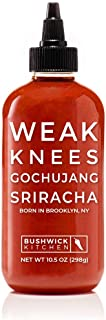 Bushwick Kitchen Weak Knees Gochujang Sriracha Hot Sauce, Classic Sriracha Chili Sauce..