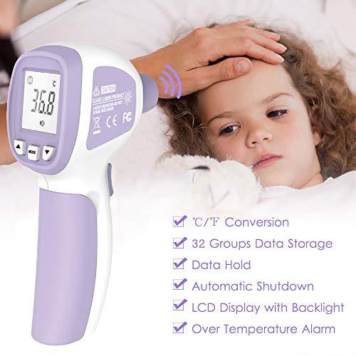 LCD Digitale IR-thermometer Contactloze infrarood Voorhoofdthermometer Koortsthermometer Dual Mode-temperatuurmeter met koorts Alarmgegevensopslag