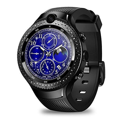 4G Android Relojes Inteligentes, GPS Android 7.1 Smartwatch IP67 Impermeable Deportivo, Reloj para Teléfono Cámara Dual De 5.0MP + 5.0MP con Batería De 530 MAh, 1GB + 16GB Negro