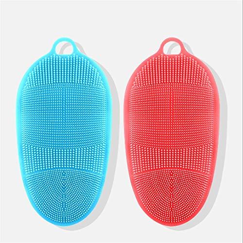 Cepillo de Ducha Toallas de baño de silicona para hombres y mujeres, frotamiento fuerte, fango de frotamiento, guantes de baño exfoliantes, cepillo de masaje de baño Cepillos Corporales ( Color : F )