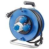 as - Schwabe 10173 Alargador de cable de seguridad para camping, diámetro de 285 mm, Azul, 25 Meter