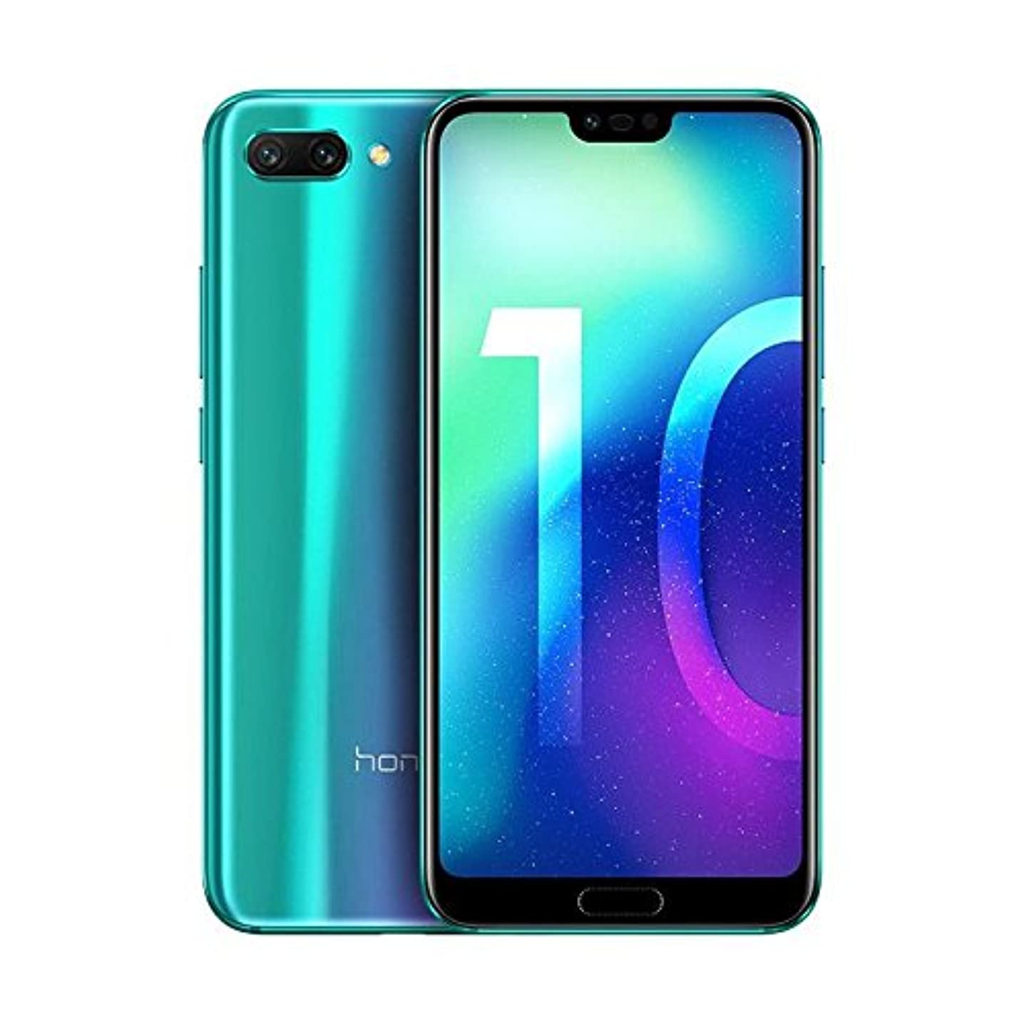 Huawei Honor 10 (COL-L29) 128GB Phantom Green, Dual Sim, Dual Camera 24MP+16MP, 4GB RAM, GSM Unlocked International Model, No Warranty