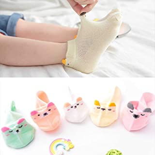 ZHANGNUO, Calcetines De Algodón para Niños De 1 a 12 Años Calcetines Estéreo De Verano para Animales Finos Calcetines De Malla para Niños Lindos Calcetines para Niñas 100% Algodón