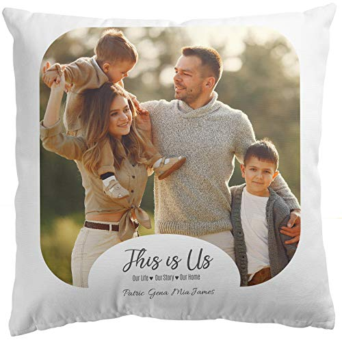 Personalised Photo Pillow Cushion Cover Sofa Home Décor Custom Gift This...