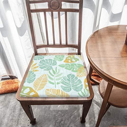 Cojín de asiento para silla, espuma de memoria, estampado tropical, cojines de asiento para oficina, hogar o asiento de coche