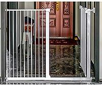 ベビーゲート フェンス ドア付き 金属アジャスタブル赤ちゃんペットの安全ゲート階段ゲート自動近い圧力では、マウント拡張は、背の高い78センチメートル幅が229.9センチメートルに61から選択することができるスタンド (Color : Height 78cm Width, Size : 135-142.9cm)