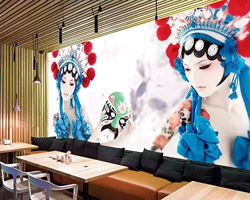 ZJfong aangepast behang Chinese stijl drama release geest kostuum schoonheid hotel restaurant muurschildering achtergrond muur 3D 140x70cm