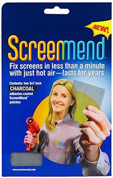 ScreenMend 8 57E 11 Window Screen Repair Kit 5 X 7 Charcoal