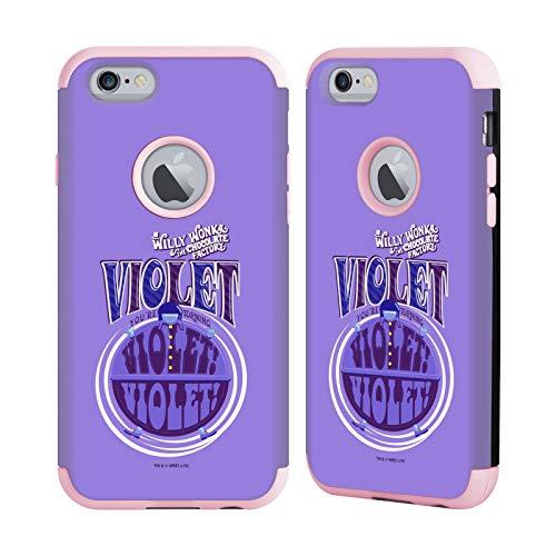Head Case Designs Ufficiale Willy Wonka And The Chocolate Factory Beauregarde Viola Grafiche Cover Guardian Fucsia Chiaro Compatibile con Apple iPhone 6 / iPhone 6s