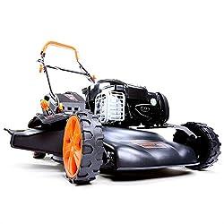 FUXTEC Gasoline Lawn Mower FX-RM18BS with 46 cm GT Self Propelled B & S Engine Easy Clean Briggs Stratton Engine Mower Mulching