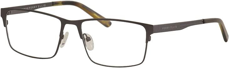 Perry Ellis Men's Eyeglasses PE413 PE/413 3-Gunmetal Full Rim Optical Frame 55mm