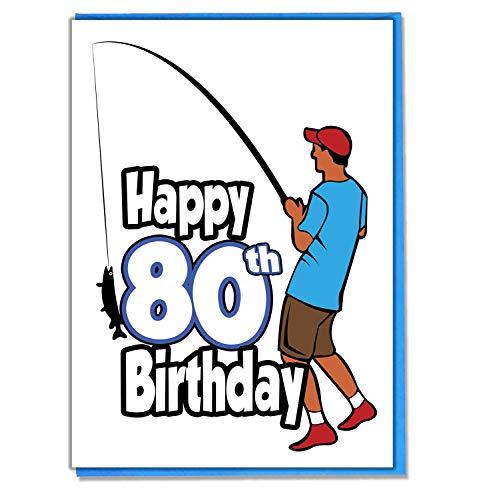 Angeln Fisherman 80. Geburtstag–Herren–Sohn, Enkel–Freund–Mann–Brother–Mate–Boyfriend