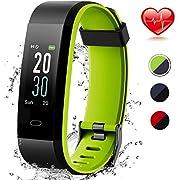 Lintelek Fitness Armband mit Pulsuhr Wasserdicht IP68 Fitness Uhr Smartwatch Farbbildschirm Fitness Tracker Pulsmesser Schrittzähler Sportuhr MEHRWEG
