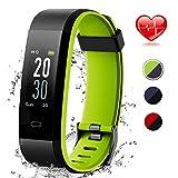 Lintelek Colour Screen Fitness Tracker, Activity Tracker IP68 Waterproof Pedometer Step Counter Wristband,GPS