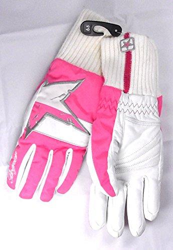 Damen Skihandschuhe Bogner Scarlett 6,5 weiß/rosa