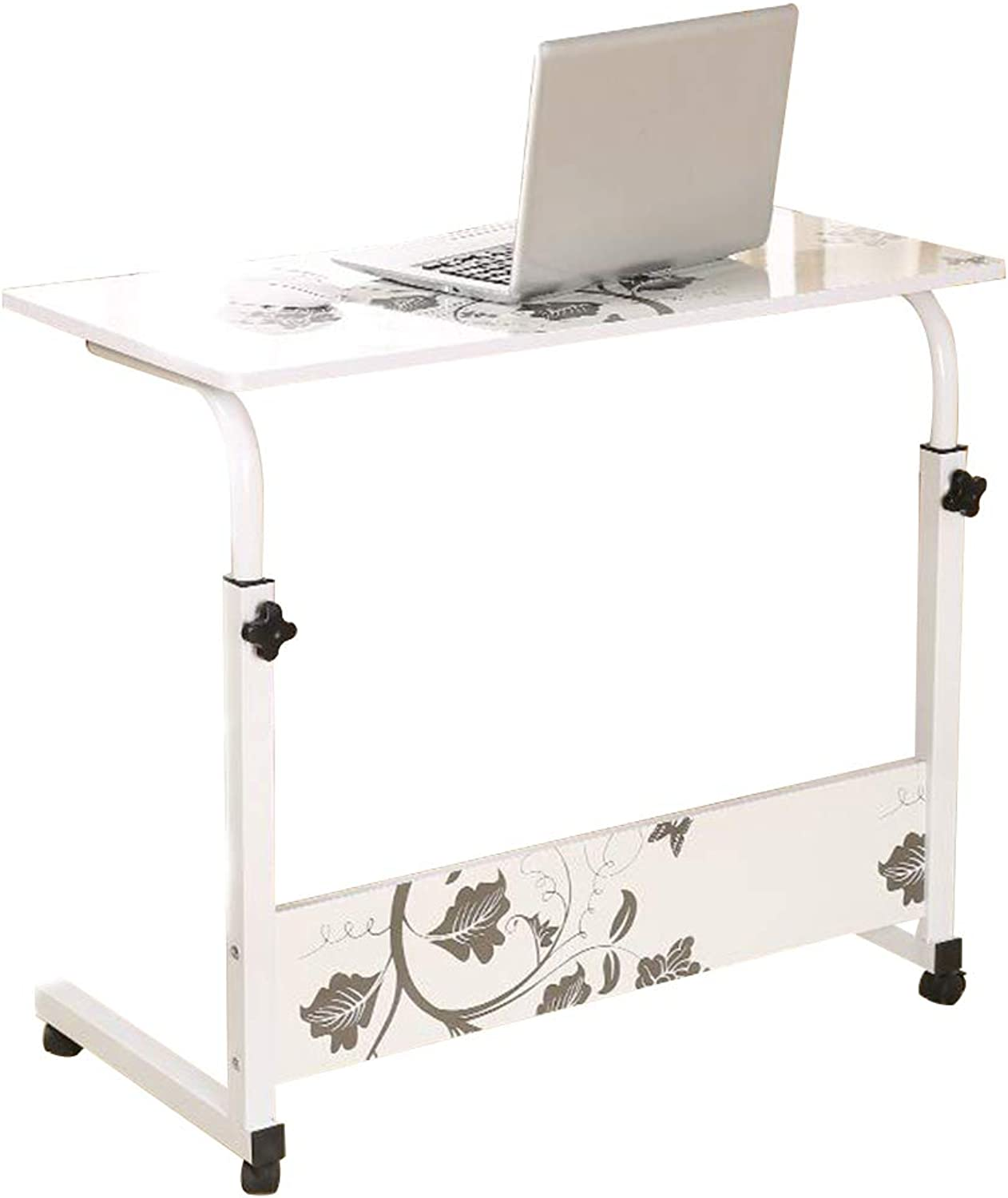 Coffee Table Mobile Telescopic Computer Desk, Type C Lifting Height Adjustable Household Dining Table Multifunction Study Table Writing Desk, 3 Sizes (Size   60  40 cm)