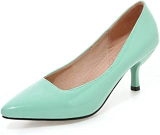 SJJH Kitten Heel Court Shoes with 8-Colors for Office Ladies