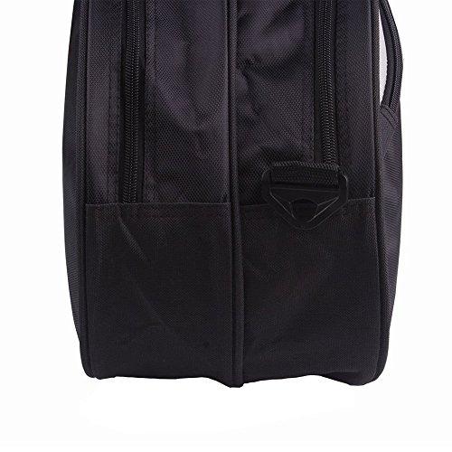 Senston Badminton Racket Bag,Single Shoulder Racket Bag 6 Racquet Bag,Waterproof And Dustproof.(Black)