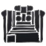 Woalzmt para Suzuki Wagon R/Stingray 2018 Alfombrilla de Ranura de Puerta Antideslizante PVC Rojo Blanco Negro Almohadilla de Ranura de Puerta
