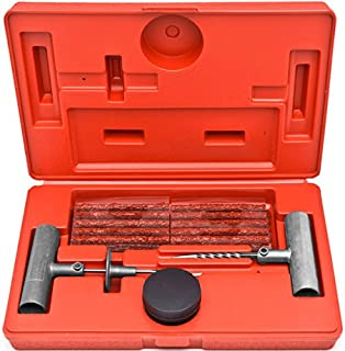 36 Pc Tire Repair Tool Kit Case Plug Patching Tubeless Tires Insert Spiral Hex