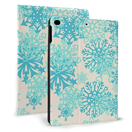 Funda Plegable para iPad Mandala con Forma de Copo de Nieve con Forma de Flor para iPad, protección para iPad Mini 4 / Mini 5/2018 6th / 2017 5th / Air/Air 2 con Auto Wake/Sleep Funda magnética i