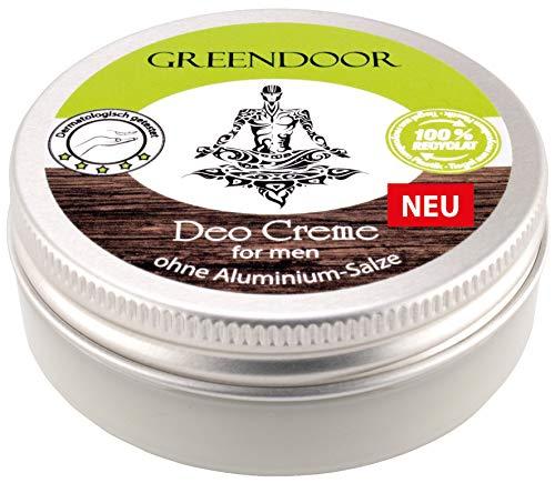 Greendoor Natürliche Deo Creme For Men 50ml I Kraftvolle Deocreme für Herren ohne Aluminium I Männlicher Duft, Naturkosmetik vegan, Anti Achselgeruch, Natur Deodorant Bio