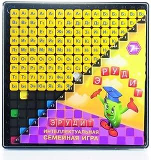 Russian Scrabble Educational Game - Russian Board Game Erudite Crossword
