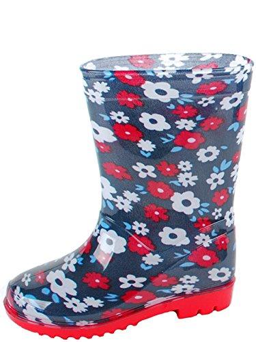 Gevavi Boots FLOW04300 Flower Bottes pour fille PVC 30 Bleu